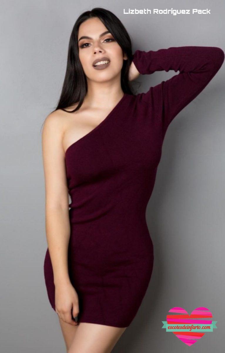 Lizbeth Rodríguez con escote asimétrico