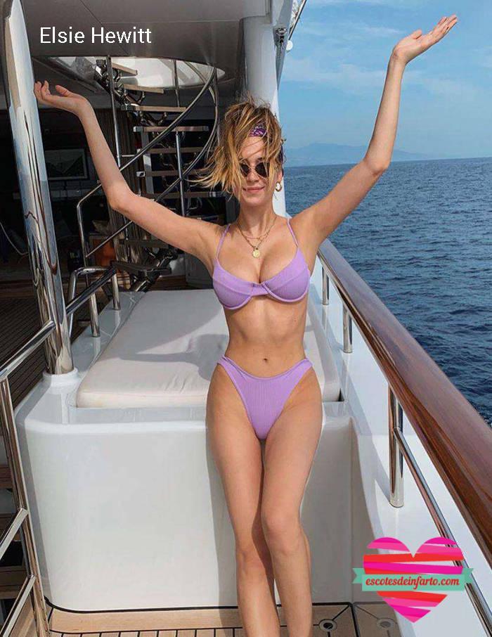Elsie Hewitt posa en un barco