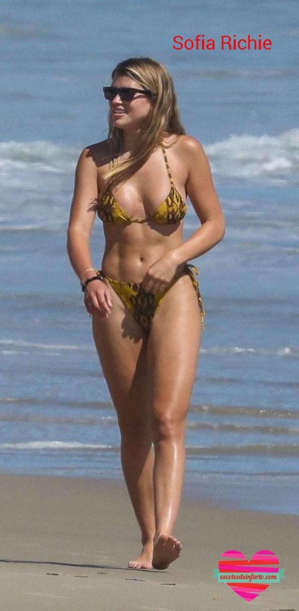 Sofia Richie en la orilla de la playa