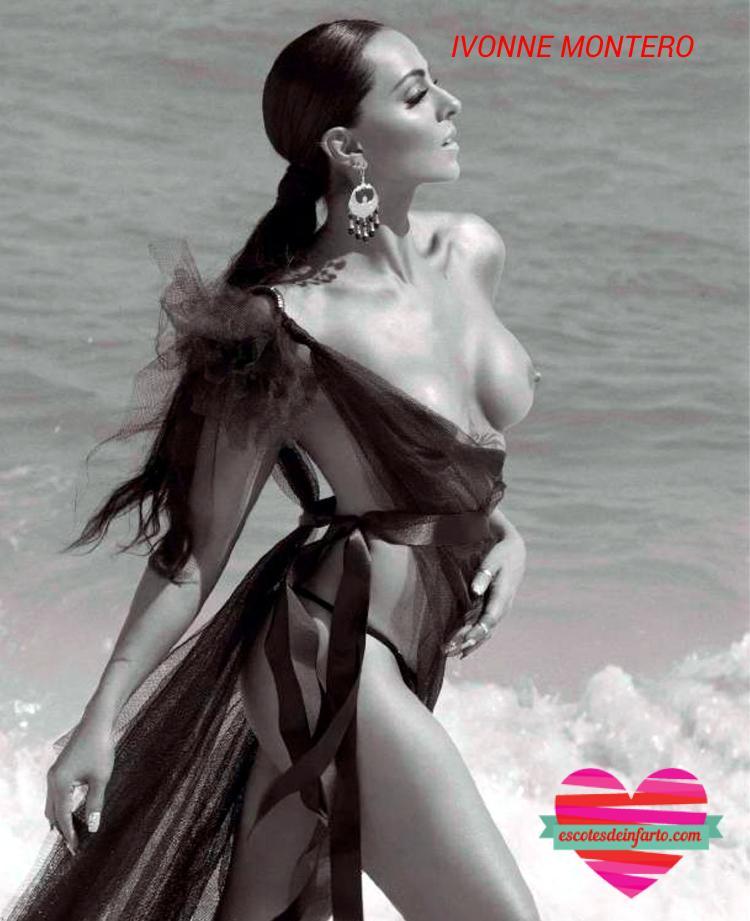 Ivonne Montero blanco y negro