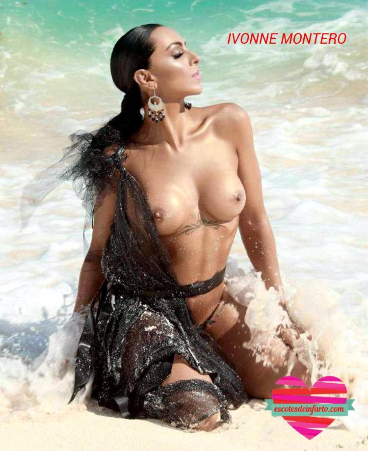 Ivonne Montero en el mar
