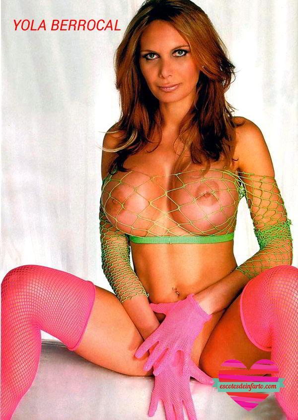 Yola Berrocal desnuda con red transparente