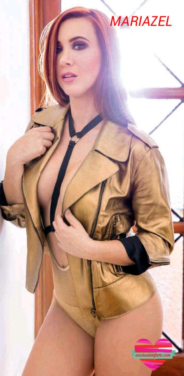 Mariazel remera dorada abierta